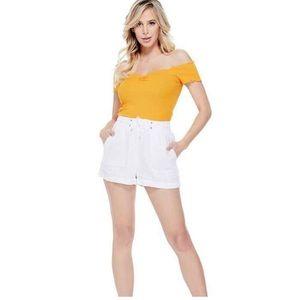 🍂50% off!Guess White Sadia Linen Shorts M